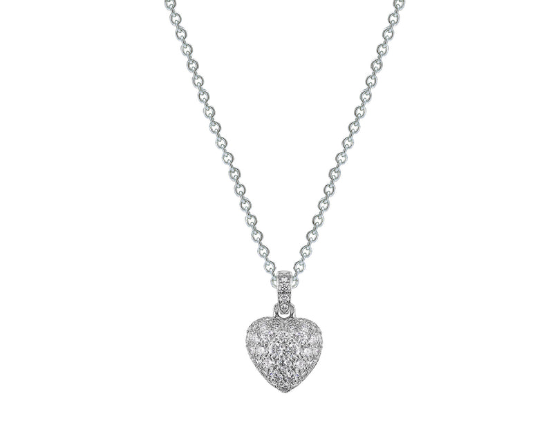 Estate Cartier Diamond Pavé Heart Pendant