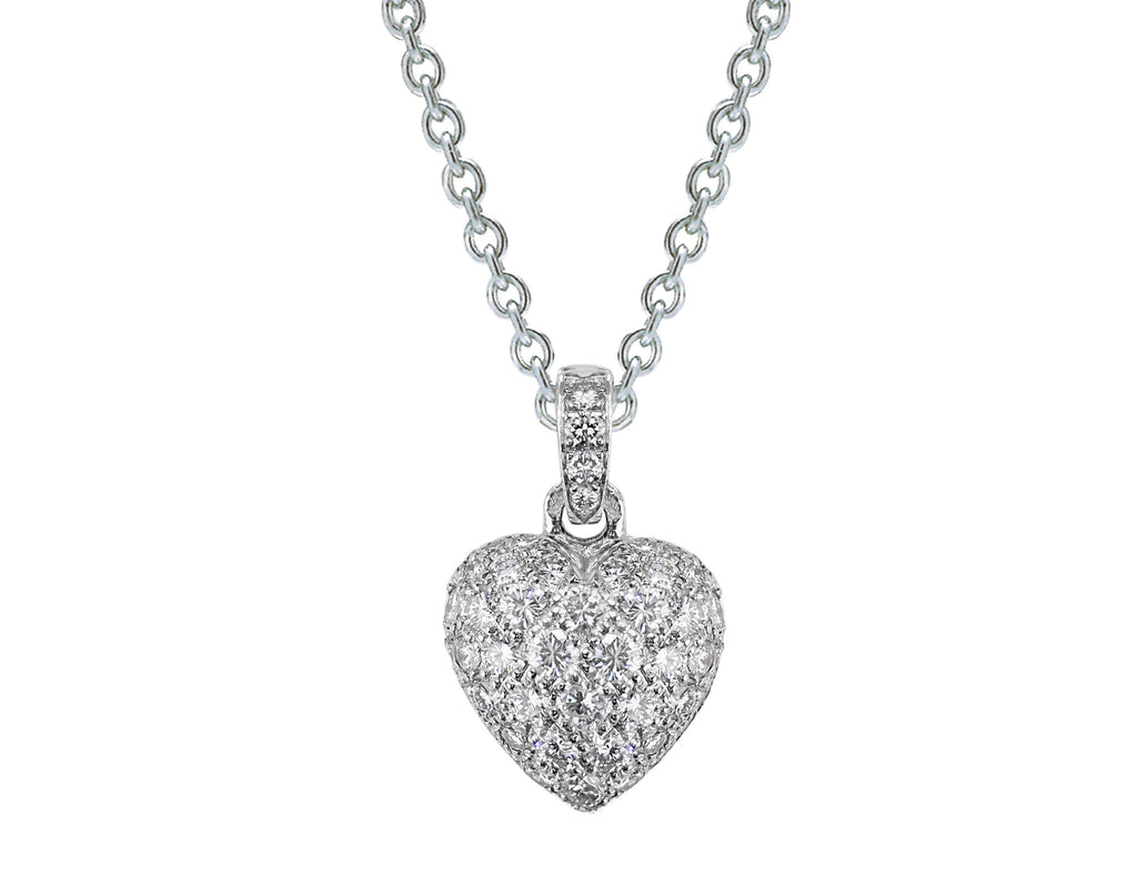 Estate cartier diamond pav heart pendant cj charles jewelers estate cartier diamond pav heart pendant aloadofball Images