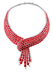 204ct Ruby Diamond Cravat Necklace