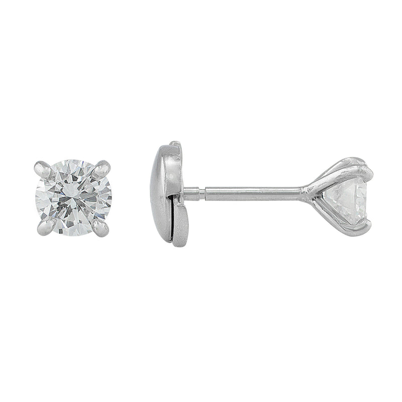 1.13ct Diamond Studs, GIA-certified with La Pousette backs