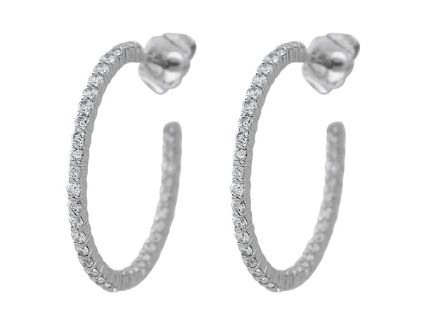 1ct Diamond Hoops