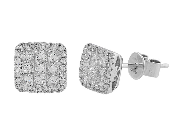 Invisible set diamond studs