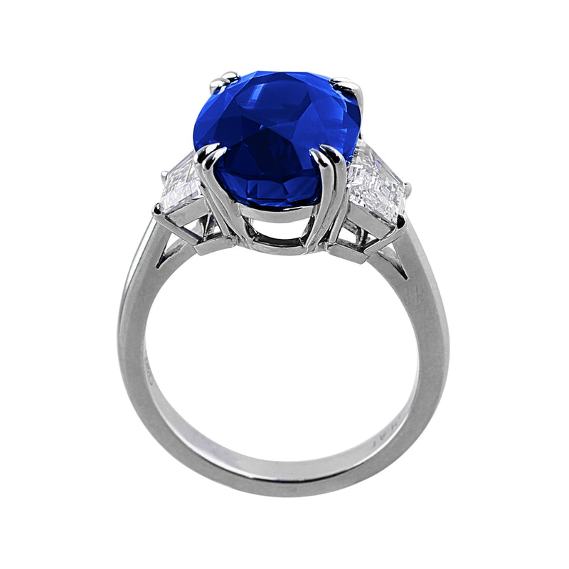 9ct Natural Ceylon Sapphire Ring, AGL-certified