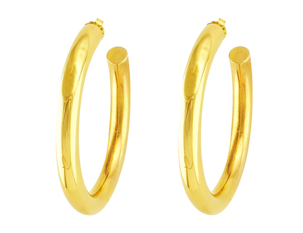 Tiffany & Co. Gold Hoops
