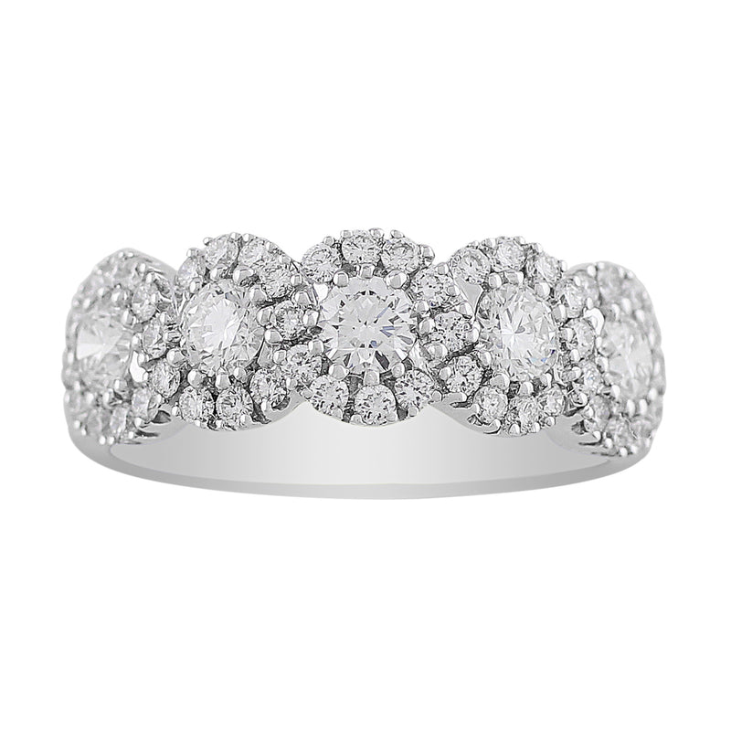 Brilliant Circle Design Diamond Band