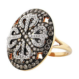 Brown Diamond Round Filigree Ring
