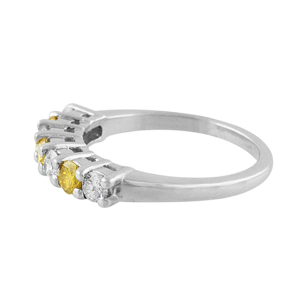 Estate Fancy Yellow Diamond Band