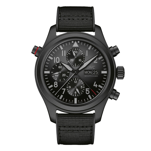 PILOT'S WATCH DOUBLE CHRONOGRAPH TOP GUN CERATANIUM IW371815