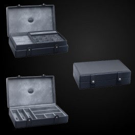 Multi Storage Case with additional tray Woven Carbon Fiber Texture