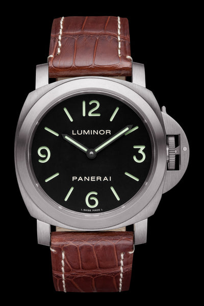 Panerai Luminor Base 44mm Titanium Watch PAM00176