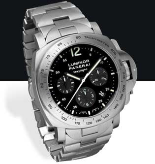 Panerai Luminor Chrono Daylight 44mm Steel Watch PAM00236