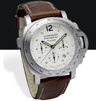 Panerai Luminor Chrono Daylight 44mm Steel Watch PAM00251