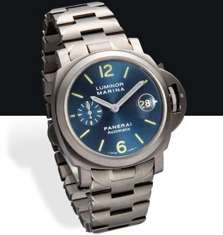 Panerai Luminor Marina Automatic 40mm Titanium Watch PAM00283