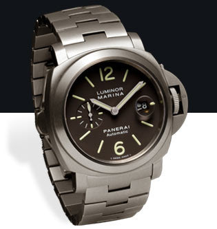 Panerai Luminor Marina Automatic 44mm Titanium Watch PAM00296
