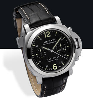 Panerai Luminor Chronograph 40mm Steel Watch PAM00310