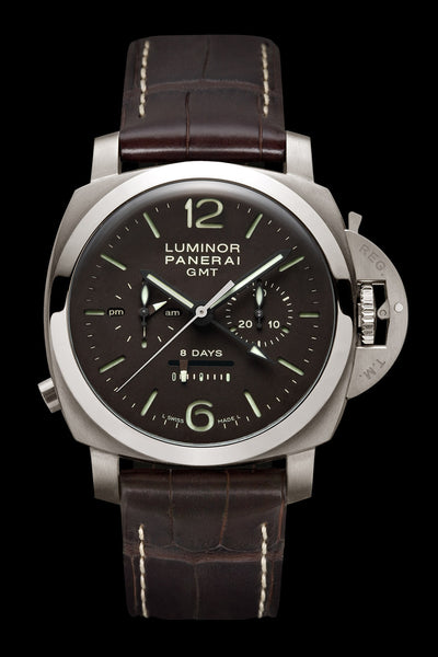 Panerai Luminor 1950 Chrono Monopulsante 8 Days GMT 44mm Titanium Watch PAM00311