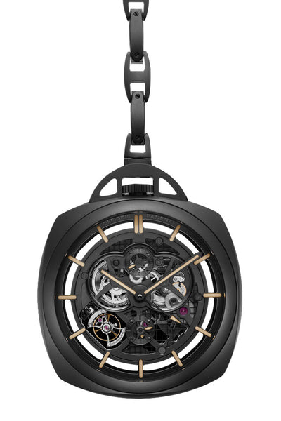 Special Edition 2013 Pocket Watch Tourbillon GMT Ceramica PAM00446
