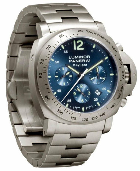 Panerai Luminor Chrono Daylight 44mm Titanium Watch PAM00327