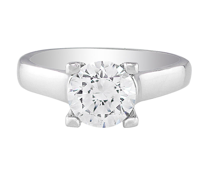 Ritani Single Stone Modern Diamond Ring