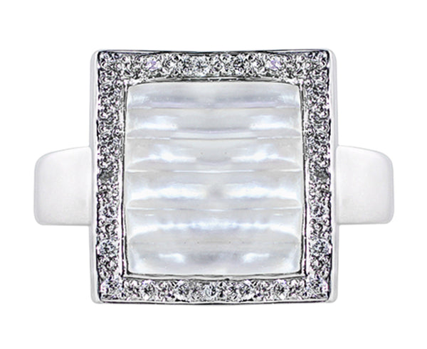 Estate Mother Of Pearl Diamond Ring
