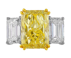 7ct Fancy Yellow Diamond Ring, Riviera collection