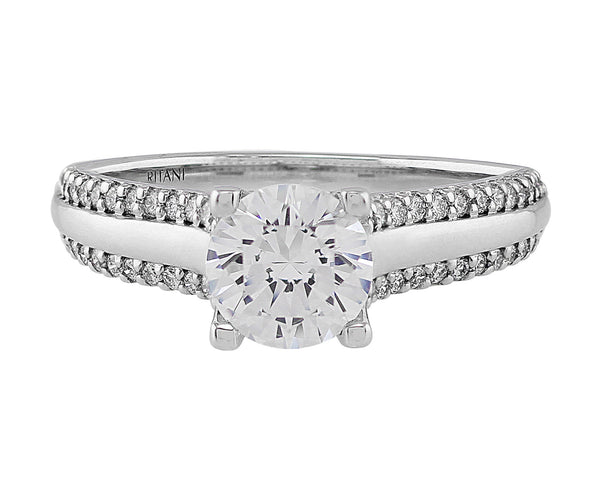 Classic 1 Stone Diamond Ring, Ritani