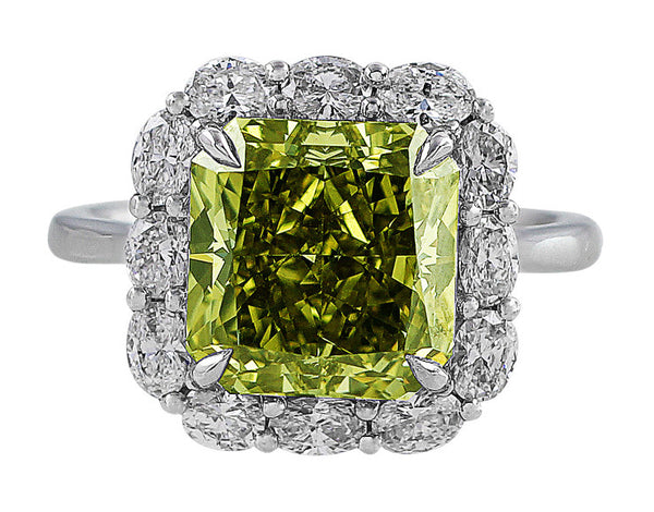 5ct GIA Certified Fancy Deep Grayish Greenish Yellow Diamond