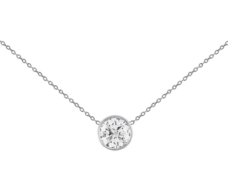 Estate 2ct Diamond Solitaire Necklace, Riviera collection