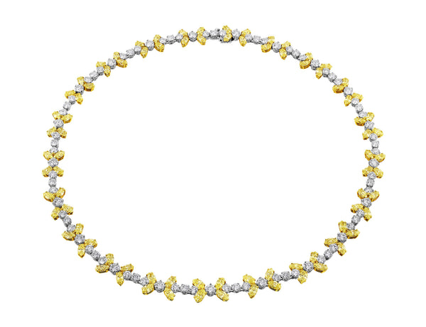 Fancy Yellow Diamond Necklace