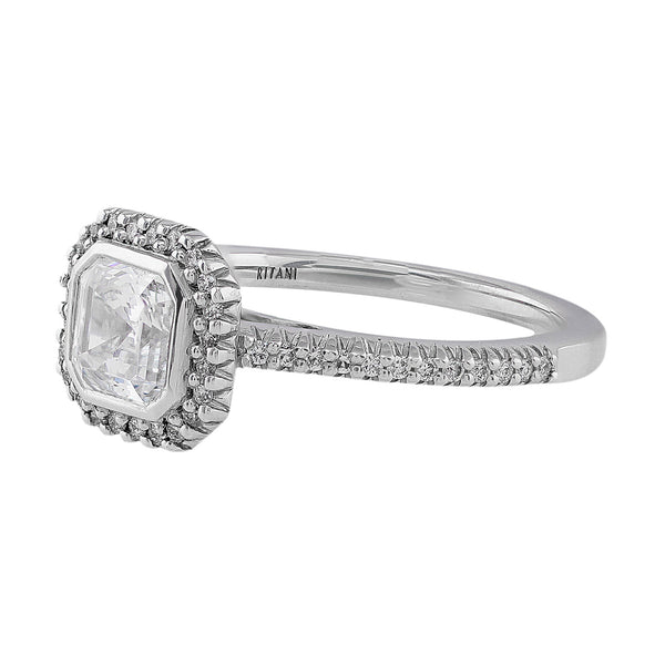 Ritani Bella Vita Asscher Diamond Solitaire Ring