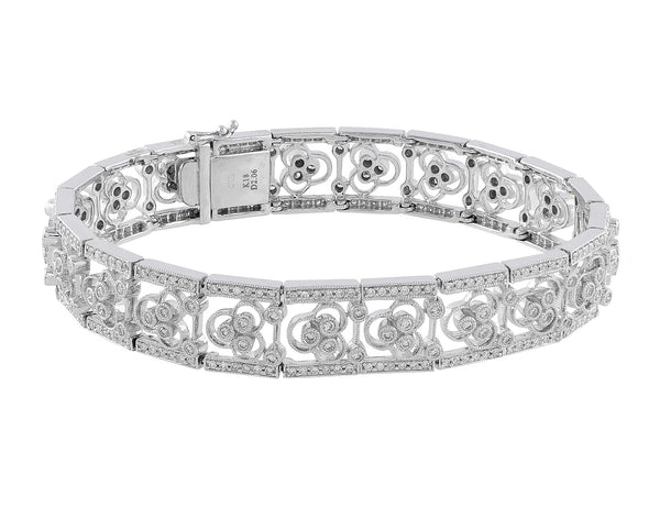Filigree Pave Diamond Bracelet