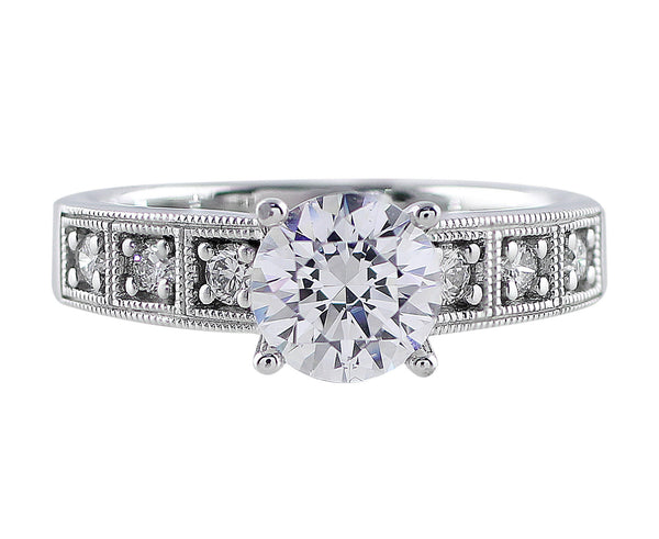 Bead Bright Diamond Ring Setting, Ritani