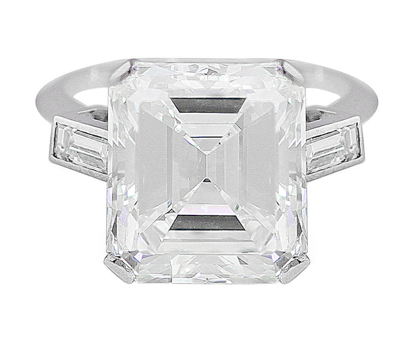8ct Riviera Emerald Cut Diamond Ring, GIA-certified
