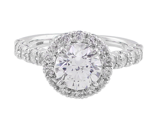 Modern Diamond Halo Setting, Ritani