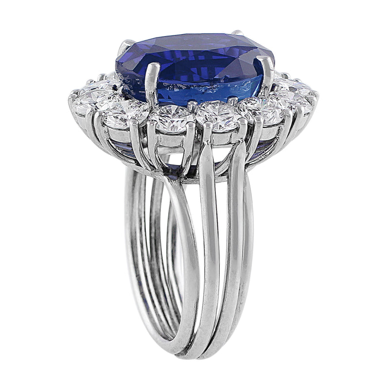 9ct Burmese Unheated Sapphire Ring, AGL-certified