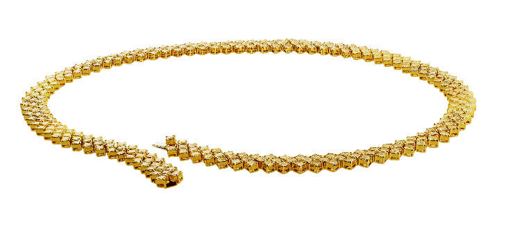Estate Fancy Yellow Diamond Necklace