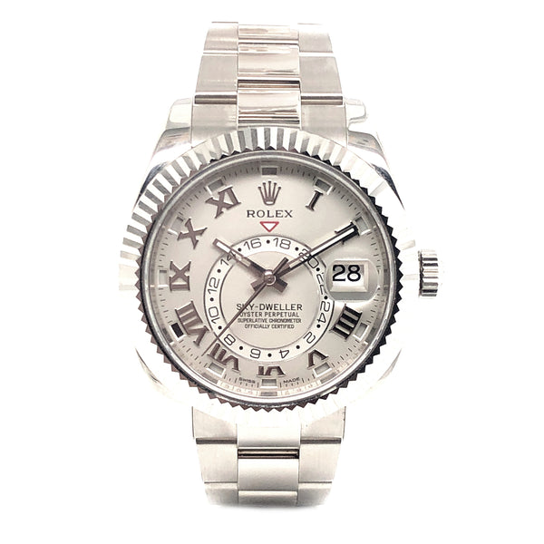Rolex Sky-Dweller 42mm 18k White Gold 326939 - Pre-Owned