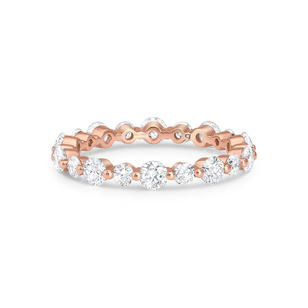 18kt Rose Gold Altering 1.61ctw Diamond Eternity Band