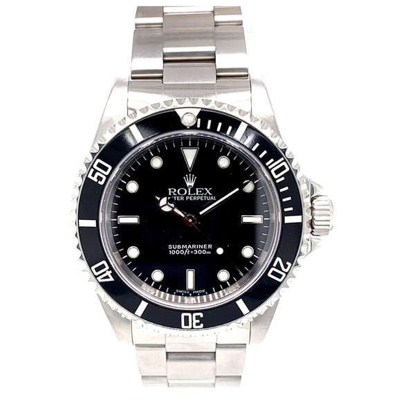 Rolex Submariner Steel 40MM Black Dial 14060 - Pre-Owned