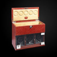 Watch Winder three module with comparment trays