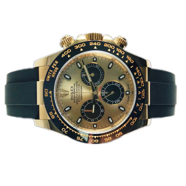 Rolex Daytona 18k Yellow Gold Ceramic Rubber 116518LN - Pre-Owned