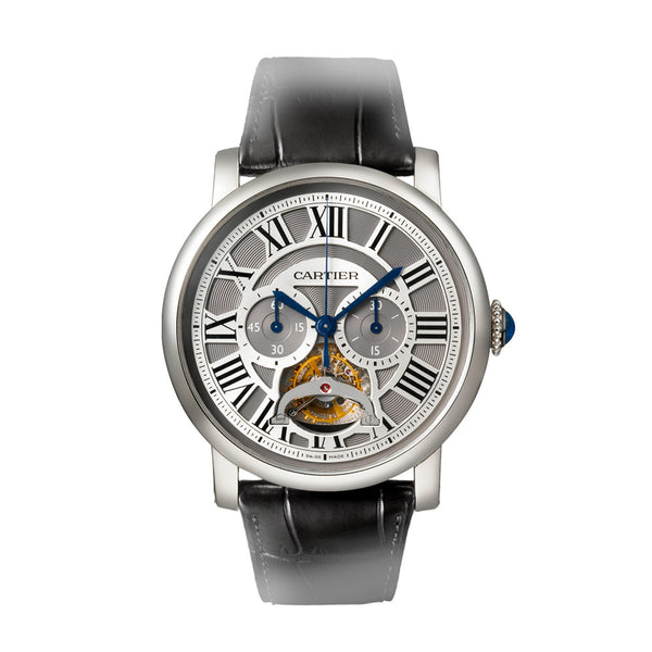 Rotonde de Cartier Single Push-Piece Tourbillon Chronograph W1580007