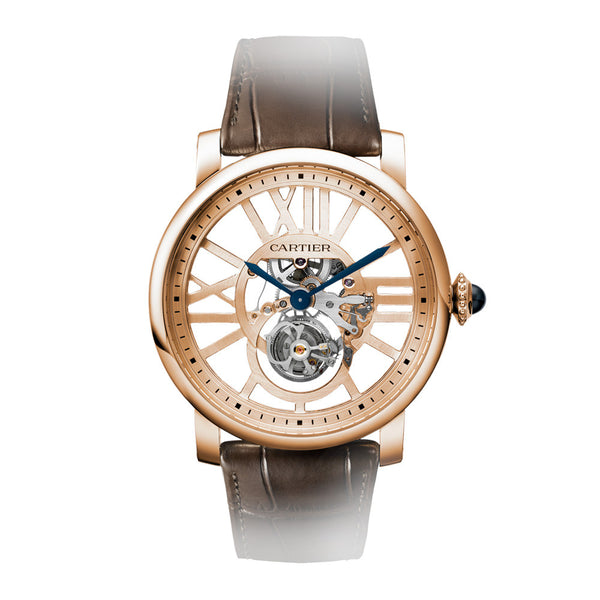 Rotonde de Cartier skeleton flying tourbillon watch W1580046