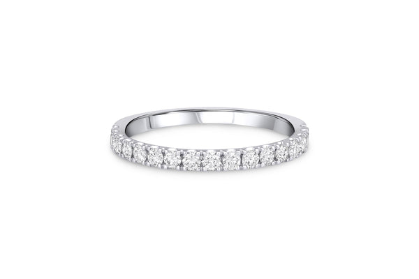 18kt White Gold 0.49ctw Diamond Halfway Band