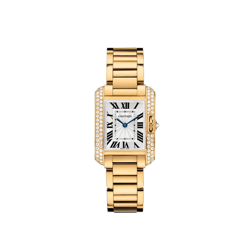 Cartier Tank Anglaise watch, small model WT100005