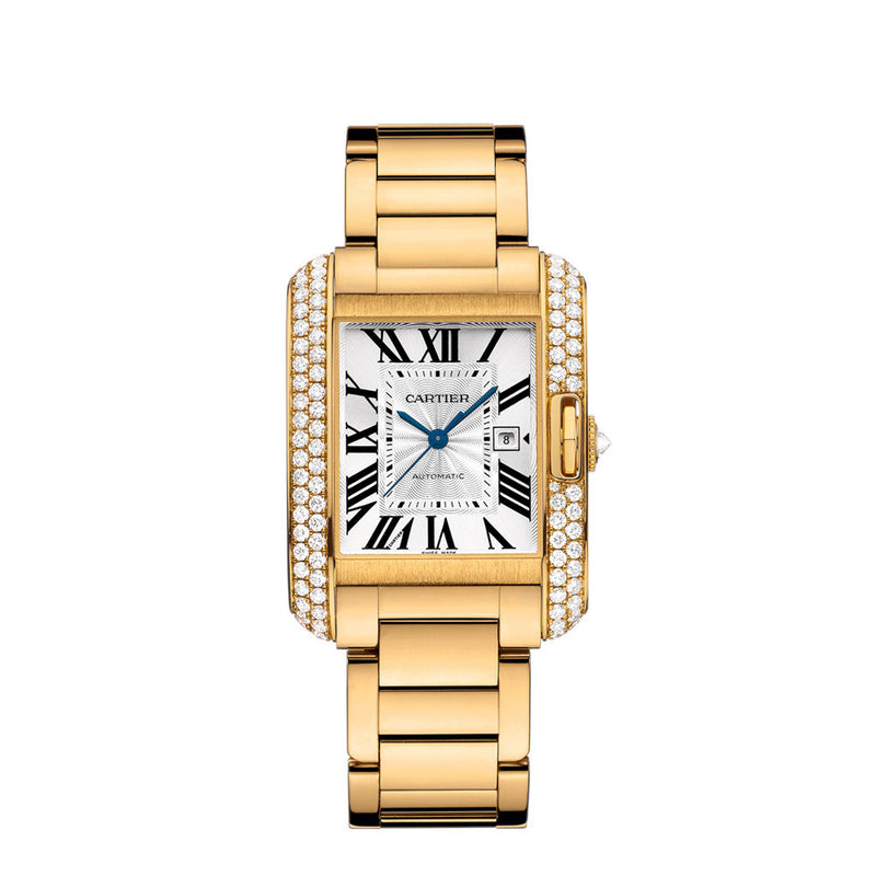 Cartier Tank Anglaise watch, large model WT100006