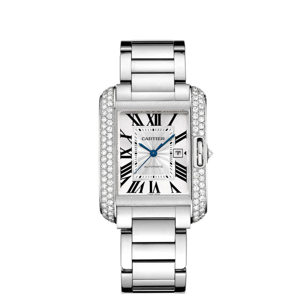 Cartier Tank Anglaise watch, large model WT100009