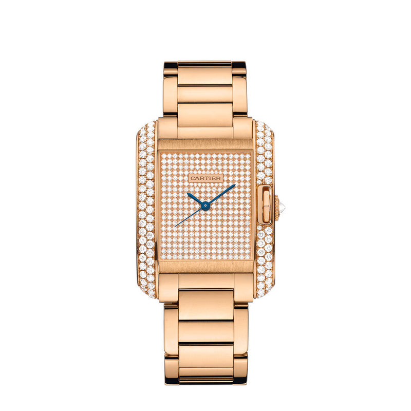 Cartier Tank Anglaise Watch, Large Model WT100012
