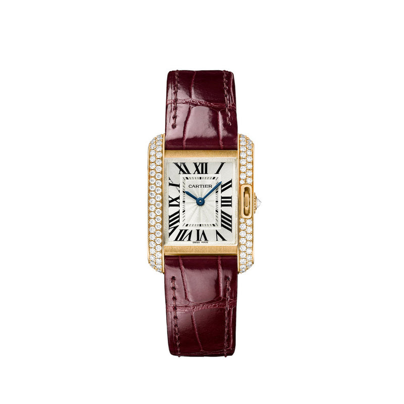 Cartier Tank Anglaise watch, small model WT100013