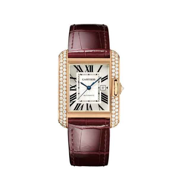 Cartier Tank Anglaise watch, large model WT100016